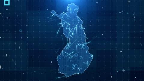 finland karta anslutningar fullständiga uppgifter bakgrund 4k - kartografi bildbanksvideor och videomaterial från bakom kulisserna