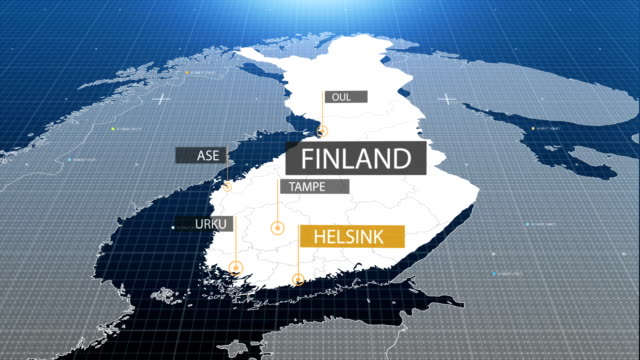 finland map with label then with out label - zoom out stock videos & royalty-free footage