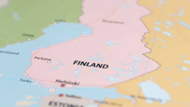 europe finland on world map - finlandia video stock e b–roll
