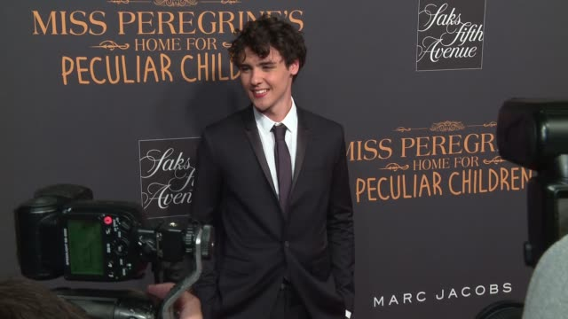 Finlay MacMillan at Miss Peregrine's Home For Peculiar Children New York Premiere at Saks Fifth Avenue on September 26 2016 in New York City