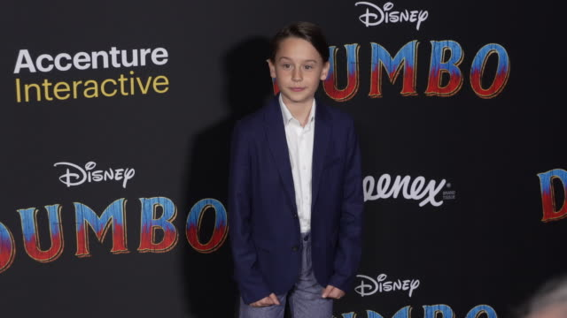 """finley hobbins at the """"dumbo"""" world premiere at the el capitan theatre on march 11, 2019 in hollywood, california. - el capitan theatre stock videos & royalty-free footage"""