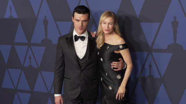 finn wittrock and renée zellweger at the 2019 governors awards on october 26 2019 in hollywood california - renée zellweger stock videos and b-roll footage