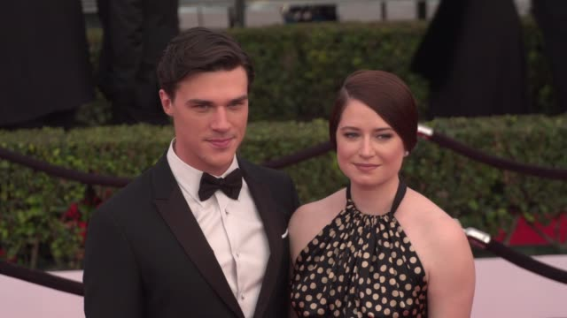 finn wittrock at the 22nd annual screen actors guild awards - arrivals at the shrine auditorium on january 30, 2016 in los angeles, california. 4k... - shrine auditorium stock videos & royalty-free footage