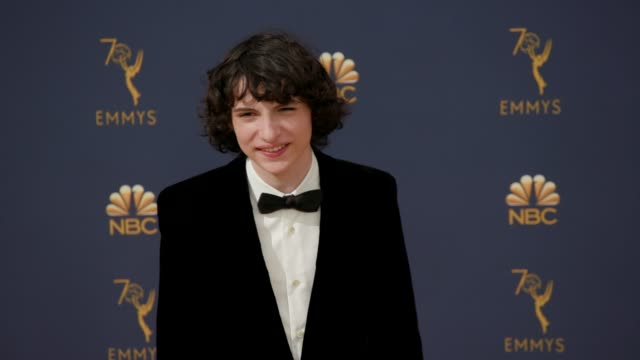 finn wolfhard at the 70th emmy awards arrivals at microsoft theater on september 17 2018 in los angeles california - 70th annual primetime emmy awards stock videos and b-roll footage