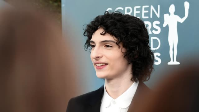 finn wolfhard attends the 26th annual screen actors guild awards at the shrine auditorium on january 19 2020 in los angeles california 721384 - shrine auditorium stock videos & royalty-free footage