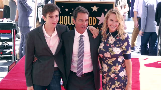 finnigan mccormack, eric mccormack and janet holden at the eric mccormack honored with a star on the hollywood walk of fame on september 13, 2018 in... - eric mccormack stock videos & royalty-free footage