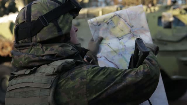 finnish and swedish soldiers with 71st motorized infantry battalion train in sweden for exercise trident juncture 18. - infantry stock videos & royalty-free footage