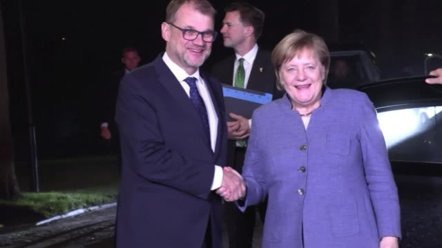 finnish prime minister juha sipila discusses brexit migration and the rule of law with german chancellor angela merkel chancellor sebastian kurz of... - traditionally hungarian stock videos & royalty-free footage