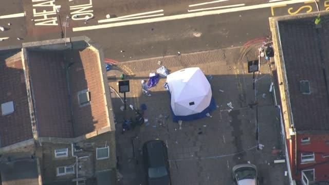 darren osborne trial begins lib / forensic tent at scene of attack - darren day stock videos & royalty-free footage