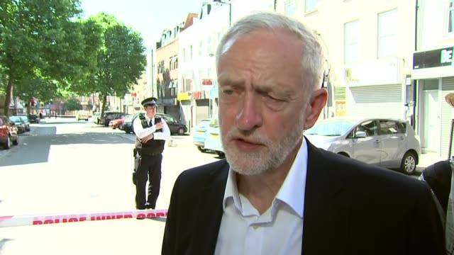 One dead as man drives rented van at Muslims outside mosque Finsbury Park Jeremy Corbyn MP with police and interview SOT treating this as seriously...