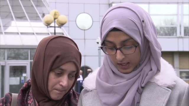 osborne jailed for a minimum of 43 years england london woolwich ext ruzina akhtar speaking to press sot - ウールウィッチ点の映像素材/bロール