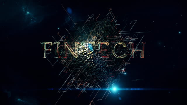 fintech matrix cube - financial technology stock videos & royalty-free footage