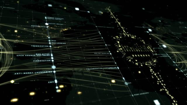 vídeos y material grabado en eventos de stock de fintech tecno grid - big data