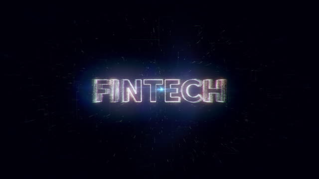 fintech word animation - financial technology stock videos & royalty-free footage