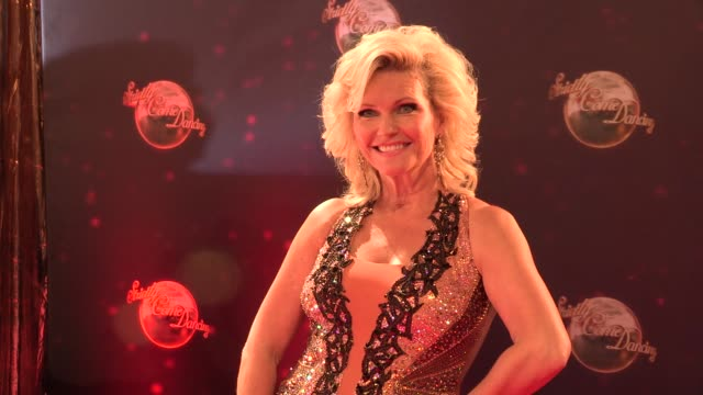 fiona fullerton at strictly come dancing at elstree studios on september 03 2013 in borehamwood england - ハートフォードシャー点の映像素材/bロール