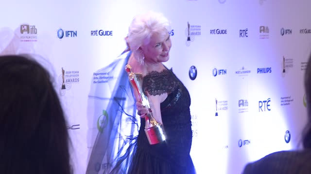 fionnula flanagan at the iftas at convention centre dublin, ireland on february 11th 2012 - irish film and television awards stock videos & royalty-free footage