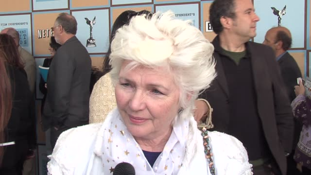 fionnula flanagan on many people at last night's global green party being here today on why independent films are important and on what constitutes... - ifp independent spirit awards stock videos and b-roll footage