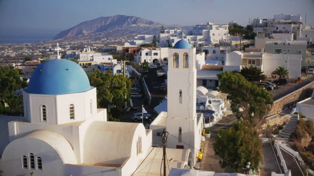 fira (thera - cyclades islands stock videos & royalty-free footage
