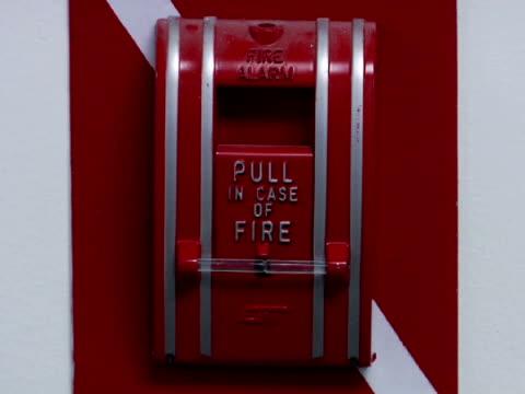 cu, zo, ms, fire alarm box - fire alarm stock videos & royalty-free footage