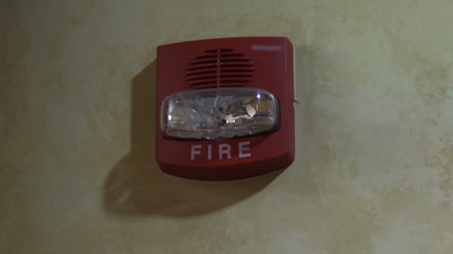 fire alarm with sound - warning sign stock videos & royalty-free footage