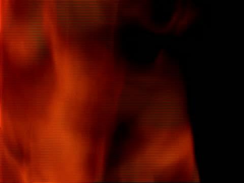 vídeos de stock e filmes b-roll de cu fire and flames, black background, zoom in and out - negativo tipo de imagem