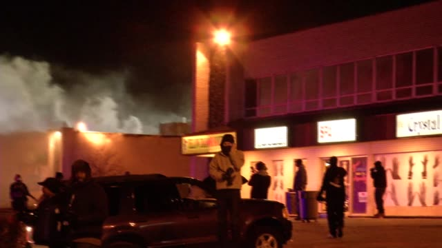 Fire and smoke from fire near McDonald's restaurant in Ferguson