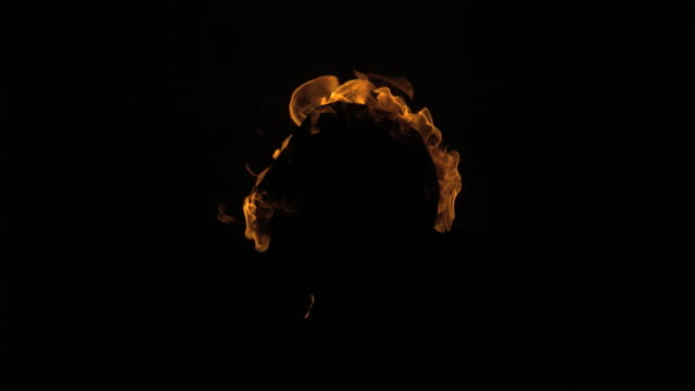 fire around head shape - burning stock videos & royalty-free footage