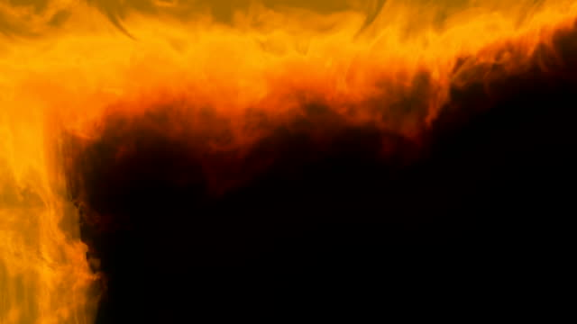 fire backdraft moving to ceiling - ceiling stock videos & royalty-free footage