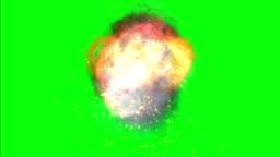 Fire ball on green screen