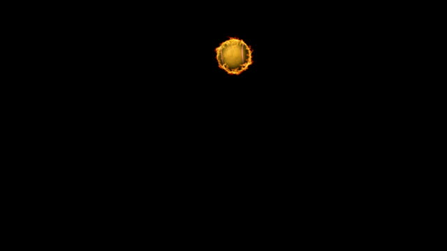 fire ball - tennis ball stock videos & royalty-free footage