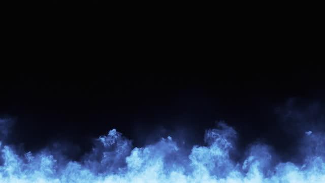 feuer - blau, copy space - brennen, flammen, magie, gruselig - unterer teil stock-videos und b-roll-filmmaterial