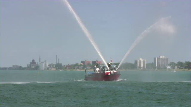 fire boat - fire station stock videos & royalty-free footage