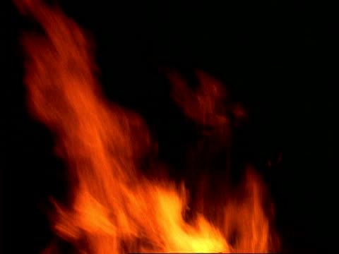 fire - bonfire at night, cu flames - ewigkeit stock-videos und b-roll-filmmaterial