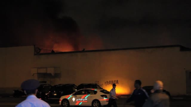 Fire breaks out at Ain Sebaa youth rehabilitation center after an attempted mass escape turned into riots in Casablanca Morocco on July 28 2016