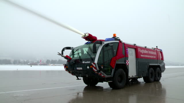 fire brigade of airport - fire engine stock videos & royalty-free footage