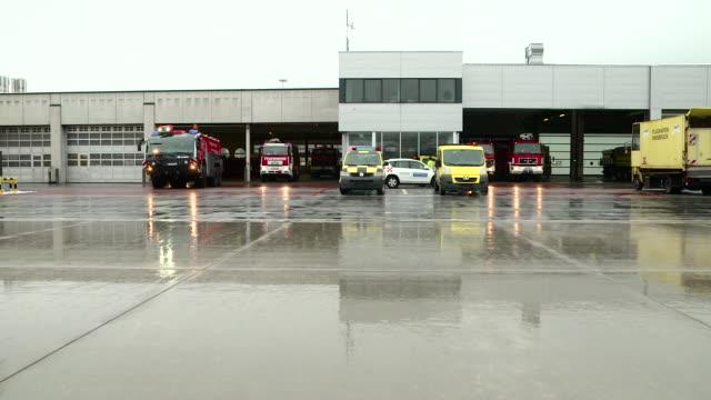fire brigade of airport - チェコ共和国点の映像素材/bロール