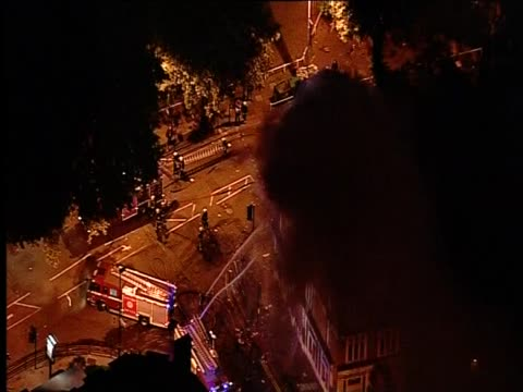fire brigade tackling fire started by rioters in ealing august 2011 - ealing stock videos and b-roll footage