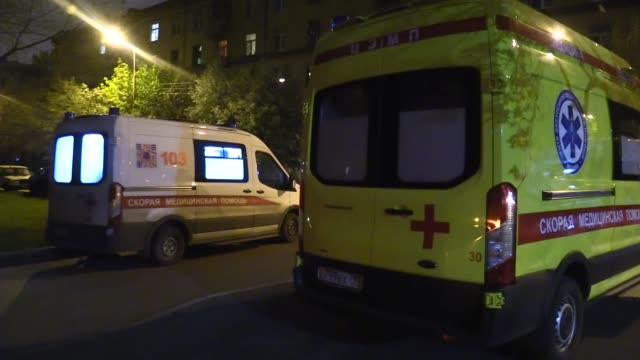 a fire broke out at a hospital in moscow where covid19 patients were staying leaving one person dead on saturday night may 9 all the patients and... - leaving hospital stock videos & royalty-free footage