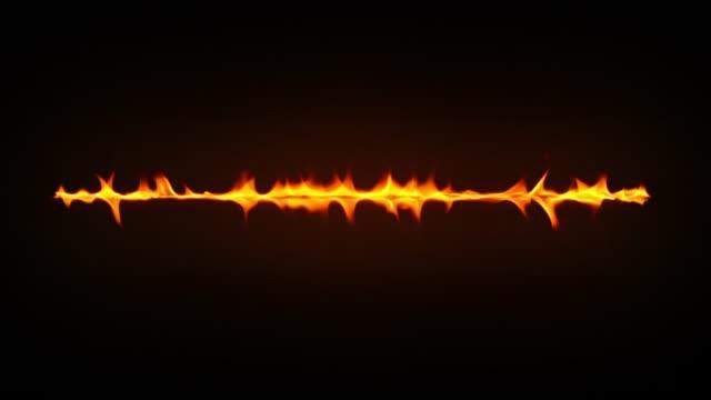 incendio al rallentatore - colore isolato video stock e b–roll