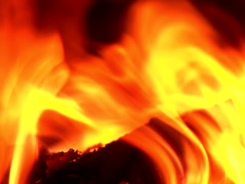 fire burning in the chimney (loopable, close-up, pal, sound included) - anthracite coal stock videos & royalty-free footage