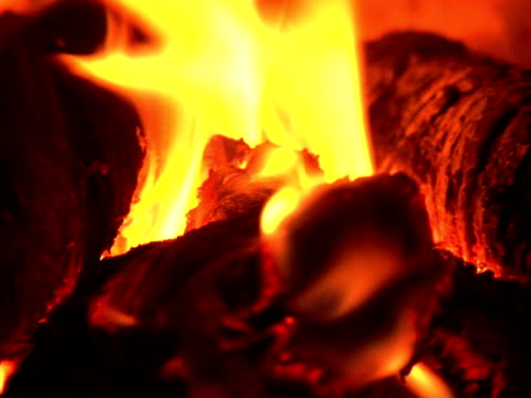 fire burning in the chimney (close-up, pal, sound included) - anthracite coal stock videos & royalty-free footage