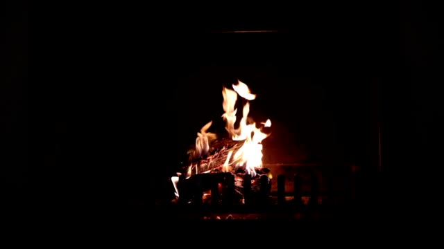 fire burning inside an indoor fire place - log stock videos & royalty-free footage
