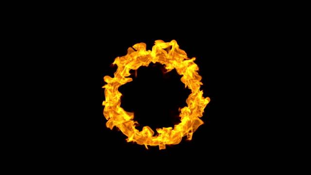 stockvideo's en b-roll-footage met fire cirkel - vierkant tweedimensionale vorm
