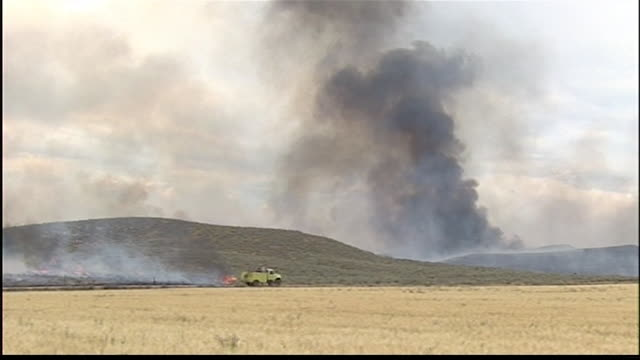 fire crews thursday continue to battle two lightning-caused wildfires burning near fairfield. one of those fires - the mccan fire - has been... - fire engine stock videos & royalty-free footage