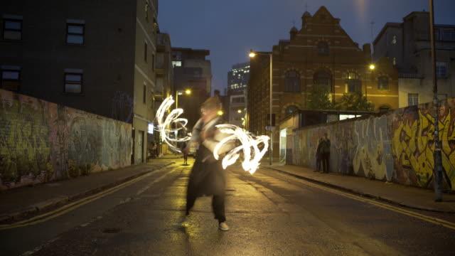 Fire Dancer in the street