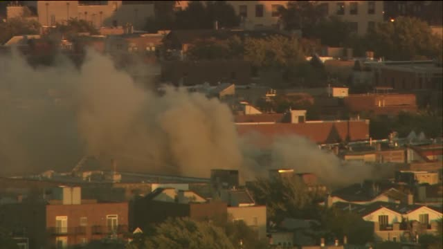 A fire destroyed 3 Wrigleyville businesses The Samah Hookah Lounge The Roadhouse 66 and Thai Classic There were no injuries Aerial Of Smoke Pouring...