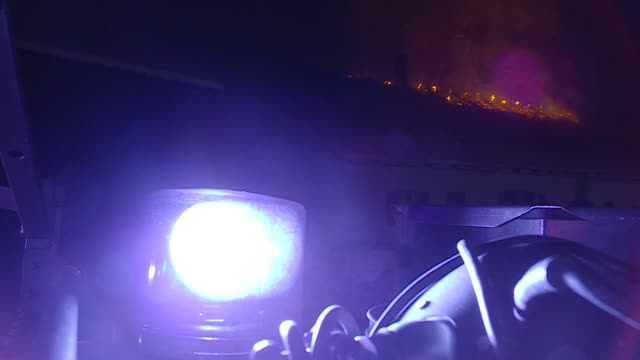 fire destroys firefighters - misfortune stock videos & royalty-free footage