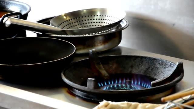 Feuer während Küche