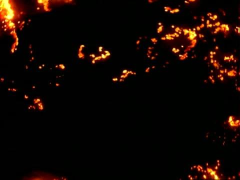 vídeos de stock e filmes b-roll de fire effects, black background, cu - negativo tipo de imagem