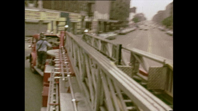 pov of fire engine driving through streets; new york, 1972 - fire engine stock videos & royalty-free footage